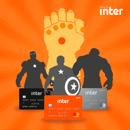 cores dos cartões de crédito do banco inter