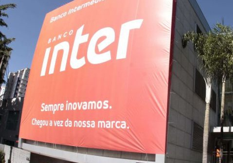 fachada da sede do banco inter