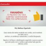 Cartão Santander Free: Como saber se fui aprovado