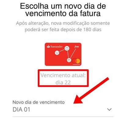 Mudar a Data de Vencimento da Fatura do Santander FREE