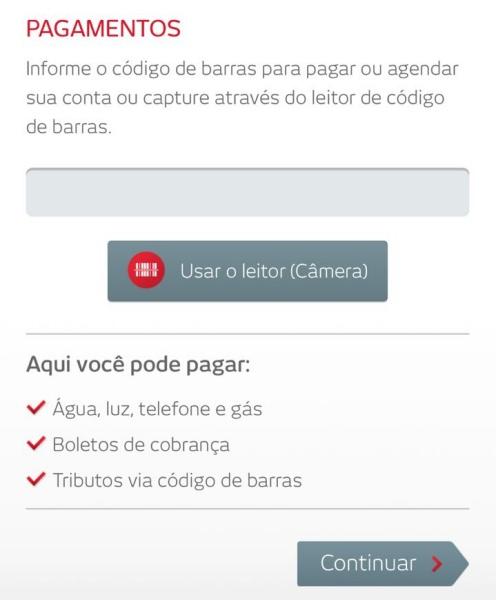 Pagamentos de contas e boletos no app Bradesco