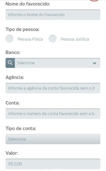 Transferência Bradesco para outro banco no app