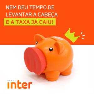 Taxas do banco inter atualmente