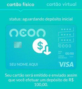 aplicativo do banco neon aguardando deposito inicial