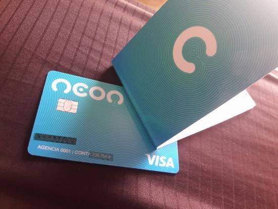 cartão de débito neon