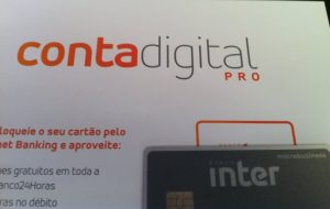 carta e cartão da conta digital pro do banco inter