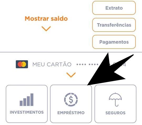 empréstimo pelo aplicativo do banco inter