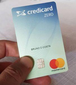 Meu cartão Credicard Zero