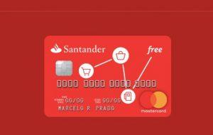 Imagem do cartão Santander Free com anuidade
