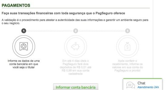 Transferência entre contas PagSeguro cai na hora