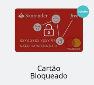 desbloquear Cartão Santander Free